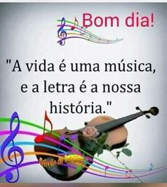 Bom dia. Frases vida e musica Portuguese Quotes, Good Morning Inspiration, Day For Night, New Years Eve Party, Lettering, Humor, Words, Instagram Posts, Pasta