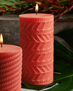 "3"" x 6"" Island Essence Molded Pillar Candle"