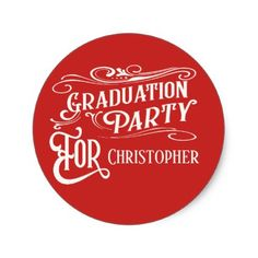 Shop Monogram Graduate Vintage Graduation Party Classic Round Sticker created by artinspired. Vintage Graduation Party, Graduation Gifts, Diy Stickers, Round Stickers, Graduation Stickers, Vintage Monogram, Retro Ideas, Vintage Gifts, Monograms