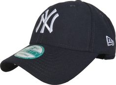 New Era 9Forty New York Yankees The League Adjustable Baseball Cap. Dark Navy with the 'NY' front logo, the New Era side logo, and the Yankees rear strap logo.