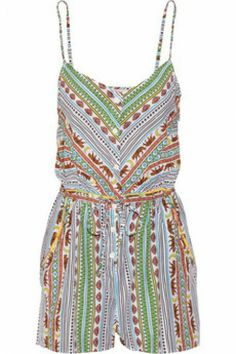What to Pack: Your Coachella Festival Fashion & Beauty Guide - Mara Hoffman Printed Playsuit from Coachella Festival, Festival Mode, Festival Outfits, Festival Fashion, Coachella Style, Coachella 2014, Mara Hoffman, Cute Fashion, Fashion Beauty