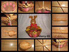 Návod na ošatku se zajícem Sun Paper, Willow Weaving, Paper Weaving, Newspaper Crafts, Easter Baskets, Holiday, Handmade, Journaling, Christmas Themes