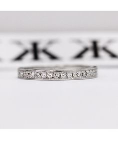 Diamond wedding ring by Kalfin Jewellery #diamondringsmelbourne#engagementringsmelbourne#weddingrings#custommade#jewellers#cbdjewellers#melbourne www.kalfin.com.au