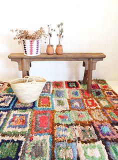 モロッコラグ ボ・シャルウィット ボ・シャラウィット Boucherouite フレンチモロッコ  モロッコ 絨緞 ベルベル