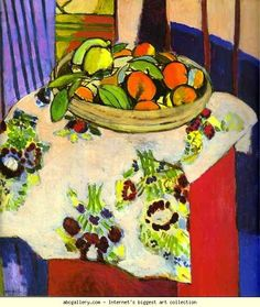 Henri Matisse. Still Life with Oranges. 1913. Oil on canvas. Louvre, Paris, France. Olga's Gallery.
