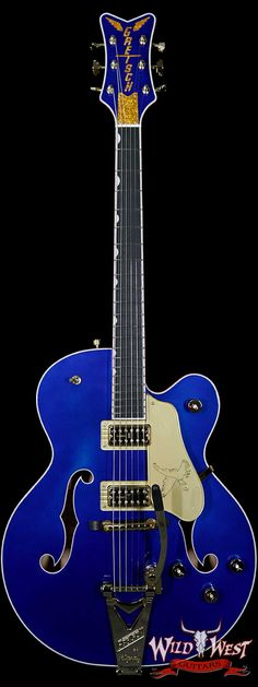 GRETSCH G6136T LIMITED EDITION FALCON WITH STRING-THRU BIGSBY AZURE METALLIC