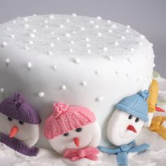 A Christmas cake makes a lovely and traditional centre-piece for the tea-table on Christmas Day. We offer different options for decorating it, from a snow scene to a stand-up Santa.