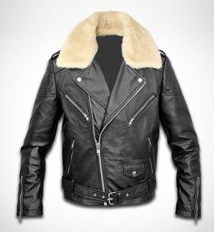 Men tailored leather biker jacket - 149.00 - Etsy.