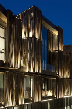 Selcuk Ecza Headquarters - Tabanlioglu Architects Facade Lighting, Exterior Lighting, Facade Design, Exterior Design, Renovation Facade, Wooden Facade, Metal Facade, Metal Screen, Exterior Cladding