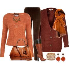 Leggings - A Sweater & Some Boots, created by arjanadesign on Polyvore