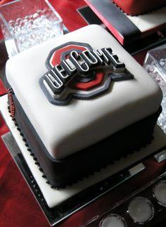 Ohio State!  #SugarRealm #Cake Ohio State Cake, Ohio State Buckeyes, Themed Cakes, Let Them Eat Cake, Amazing Cakes, Cake Ideas, Cake Decorating, Food Ideas, Graduation
