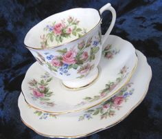 Vintage Royal Albert Moss Rose Tea Trio by TheWhistlingMan on Etsy, £20.00 SOLD