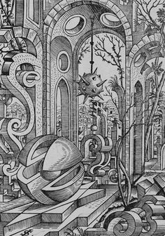 Lorenz Stoer - Geometrische Körper und Architekturbauteile (1567).