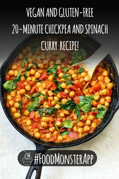 Healthy, quick, and so simple! Click the link to find out how to make it! Curry Recipes, Veggie Recipes, Vegetarian Recipes, Healthy Recipes, Homemade Pesto Sauce, Chickpea And Spinach Curry, Vegan Indian Recipes, Delicious Sandwiches, High Protein Recipes