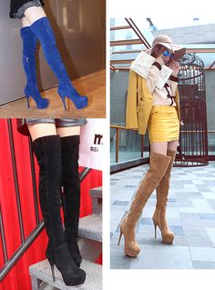 Stylish thigh high riding dress heel boots for the modern woman Inner zipper for easy access Comfortable breathable upper Made from PU 57 cm shoe height cm heel height Available in 4 colors Dress With Boots, Dress And Heels, Thigh High Boots, Over The Knee Boots, Stylish Boots For Women, Cold Weather Outfits, Sexy Boots, Thigh Highs, Heeled Boots