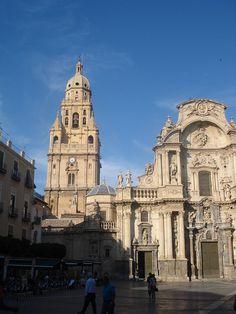 Plaza de la catedral de Murcia. Spain