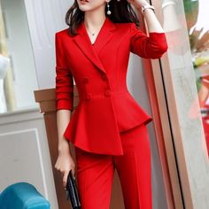 Formal Suits For Women, Work Suits For Women, Clothes For Women, Work Clothes, Women's Office Clothes, Suits For Ladies, Office Wear For Ladies, Office Clothing, Ladies Jackets