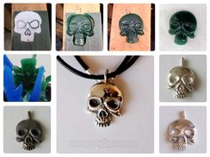 Hand carved skull and cast in sterling silver using lost wax casting method. Lost Wax Casting, Hand Carved, Washer Necklace, It Cast, Carving, Jewels, Jewellery, Sterling Silver, Books