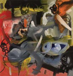 """Luke Gray, Strokeworld 0907, 2010, Varnished acrylic on canvas, 42"""" x 40"""""""
