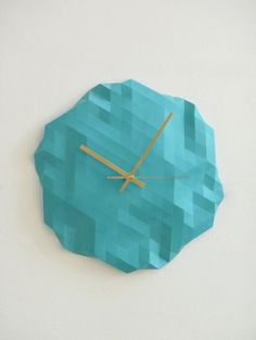 Faceted Wall Clock-rawdezign