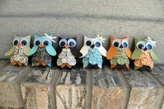 Spice Cake Pillowbox Owls