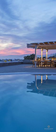 Sunset at the Boheme Mykonos Hotel
