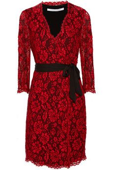 Diane von Furstenberg Julianna lace wrap dress | NET-A-PORTER