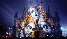 On the nights of Christmas Eve and Christmas, Paolo Buroni projected blown-up iconic religious images onto the façade of the Milan Cathedral as well as other landmarks in the Italian city. Photo courtesy of Paolo Buroni.    Read more: Projection Art Photos at WomansDay.com - Extreme Artwork - Woman's Day