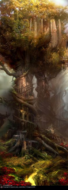 Part fairy realm, part labyrinth, part gothic darkness ... LOVE this!