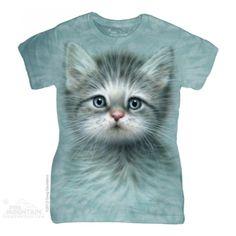 Tricouri dama 3D – Tricou Blue Eyed Kitten Dama