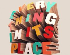 How to Create Colorful Wooden 3D Text| Ps, Ai, Id reference | #digital media arts college | www.dmac.edu | 561.391.1148