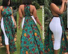 African summer dress / african print maxi dress / ankara maxi dress / African clothing for women / ankara women clothing / african kitenge African Dresses Plus Size, African Dresses For Kids, African Maxi Dresses, Latest African Fashion Dresses, African Print Fashion, African Wear, African Attire, African Women, Africa Fashion