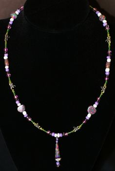 Spring Garden Necklace Purple. SOLD