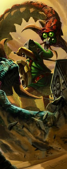 Link vs. Twinmold majoras mask the legend of zelda #boss #fight