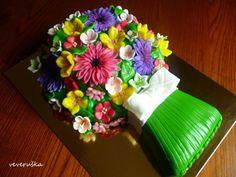 MARCIPÁNOVÉ dorty od VEVERKY - Fotoalbum - Dorty 3D - dort kytice 3 (1)