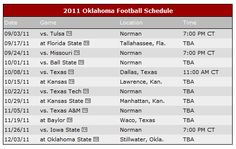 OU Football Schedule