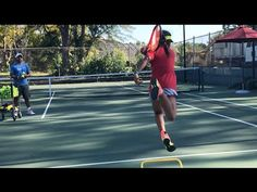 Forehand on the rise. Professional Coach Brian Dabul, players from 9 to 11 y/o. Tennis training - YouTube