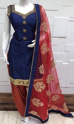 Pinterest: @pawank90 Patiala Dress, Punjabi Dress, Pakistani Dresses, Indian Dresses, Indian Outfits, Patiala Salwar, Punjabi Suits, Patiala Suit Designs, Salwar Designs