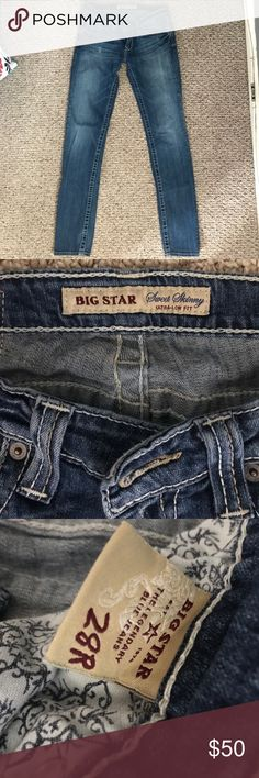 Big Star Sweet Skinny Jeans 👖Size 28R Big Star Sweet Skinny Jeans 👖Size 28R . Like New . Ultra Low Fit . Skinny at Ankle . Also looks cute when cuffed . 💜Make me an offer I can't refuse!! Big Star Jeans Skinny