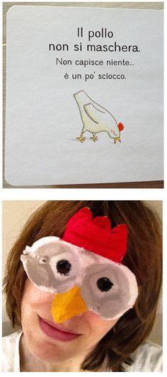 Can't stop laughing ...super cute Italian mom's egg carton animals masks for enriching story ! telling....Quandofuoripiove: Le maschere degli animali con il cartone delle uova 卵のカートンで動物のマスクを作った!