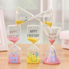 安安家 韩版创意 可爱卡通沙漏计时器 居家办公室摆件生日礼物
