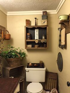 gorgeous farmhouse bathroom remodel ideas and design 21 Primitive Homes, Primitive Country Bathrooms, Primitive Bathroom Decor, Country Baths, Prim Decor, Primitive Furniture, Rustic Bathrooms, Country Primitive, Country Decor