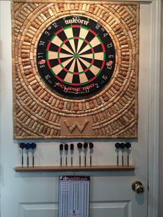 Saving corks? DIY cork dart board background. More