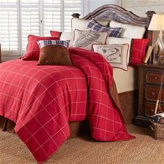 NEW Pattern!! Delectably Yours South Haven Bedding Comforter Set & Accessories by Hi End Accents for your Lake, Cabin or Lodge Bedroom Decor. #DelectablyYours