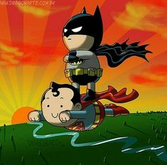 Superman and Batman #WhenYouCan'tFly