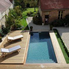 Photo terrasse mobile coulissante de piscine/spa en bois - Rolling-Deck