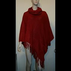 BCBG Maxazria Red Poncho One Size - NWT 🆕 Brand new, never worn, no damage.   👍 Smoke-free, pet-free household.   🚫 No trades/swaps!  🚫 No holds!  🚫 No low-balling!  🚫 No PayPal!   ✔ Reasonable offers welcomed! Please use the offer button so I know you are serious about the item! I will not respond to price negotiations via comments.  ✔ I love bundling! Not only will you get ONE shipping fee, I will also discount your combined total! Please ask me in the comments!  😜 Happy poshing! 😜…