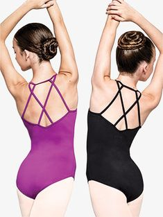NWT tank Empire style wide strap LEOTARD crisscro style 2 colors offered ch//lad