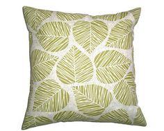 Mod Mid-Century Leaf Print Cushion