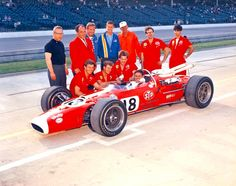 Al Unser senior in one of the STP Lotus at Indy.
